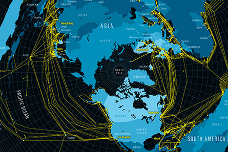 Map of the Internet Submarine Cables
